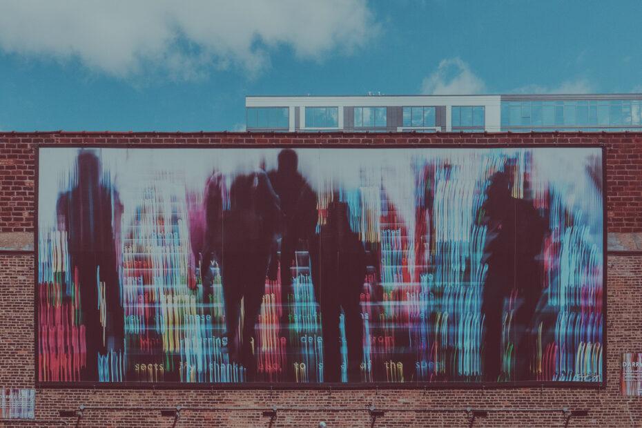 billboard with artwork